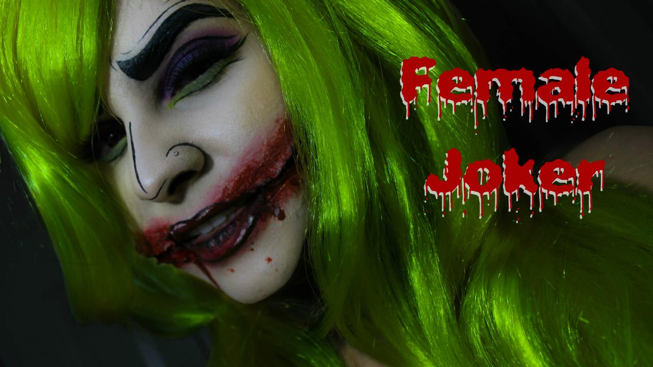 female joker | halloween makeup series | beautyjannelle | beauty